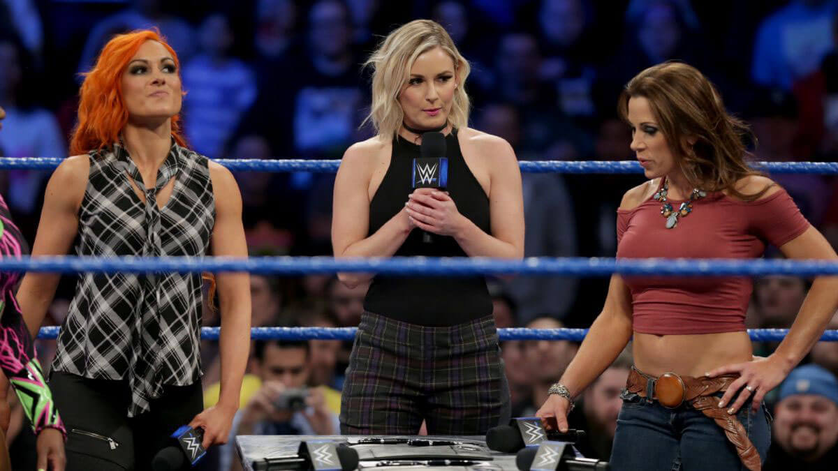 WWE SmackDown Live - Alexa Bliss, Mickie James, Naomi and Becky Lynch