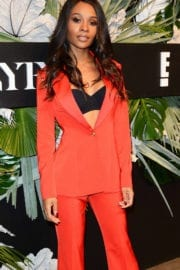 Zuri Hall at ELLE, E! and Img New York Fashion Week Kick-off Party in New York
