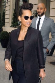 Alicia Keys Stills Leaves Royal Monceau Hotel in Paris