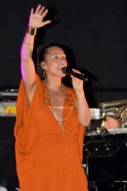 Alicia Keys Stills Performs at Porsche Design Tower Miami in Sunny Isles