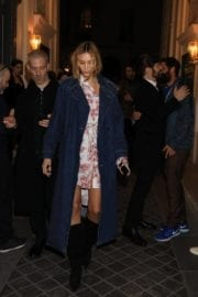 Anja Rubik Stills Leaves Vogue Fashion Fund Cocktail in Paris