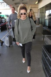 Brielle Biermann at LAX Airport in Los Angeles - March, 2017