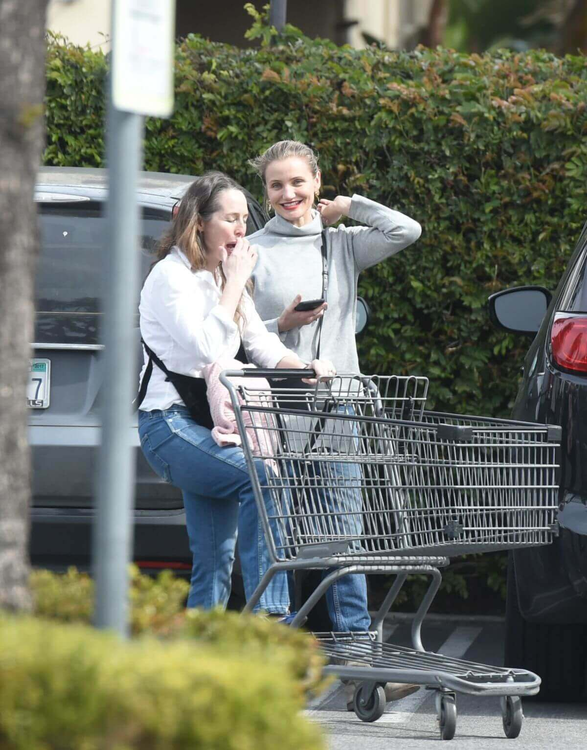 Cameron Diaz Stills Out for Grocery Shopping in Los Angeles 5