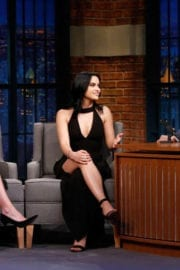 Camila Mendes and Lili Reinhart Stills at Late Show with Seth Meyers in New York