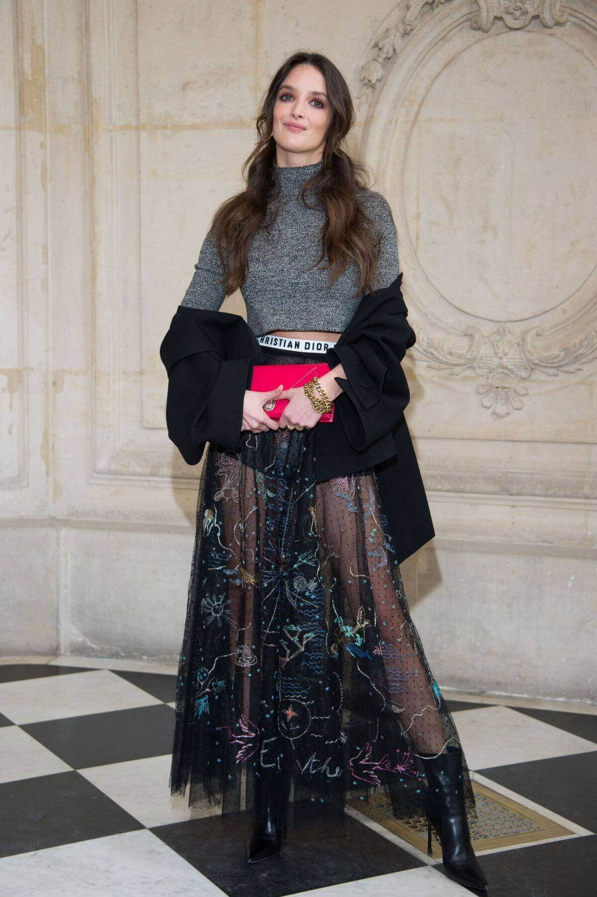 Charlotte Le Bon Stills at Christian Dior Fashion Show in Paris