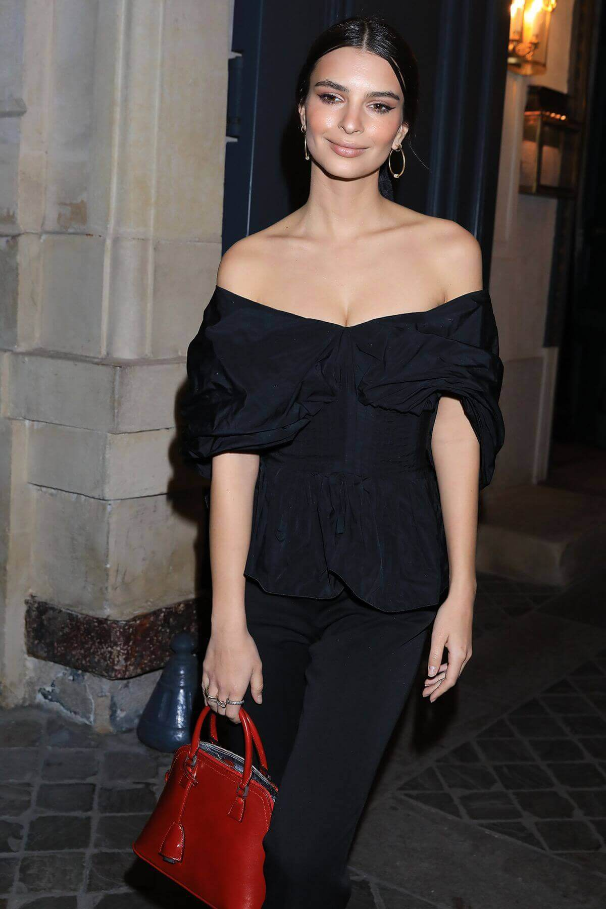 Emily Ratajkowski Stills Leaves Vogue Fashion Fund Cocktail Party at Paris Fashion Week