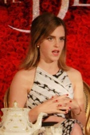"""Emma Watson Stills at """"Beauty and the Beast"""" Press Conference in Beverly Hills 6"""