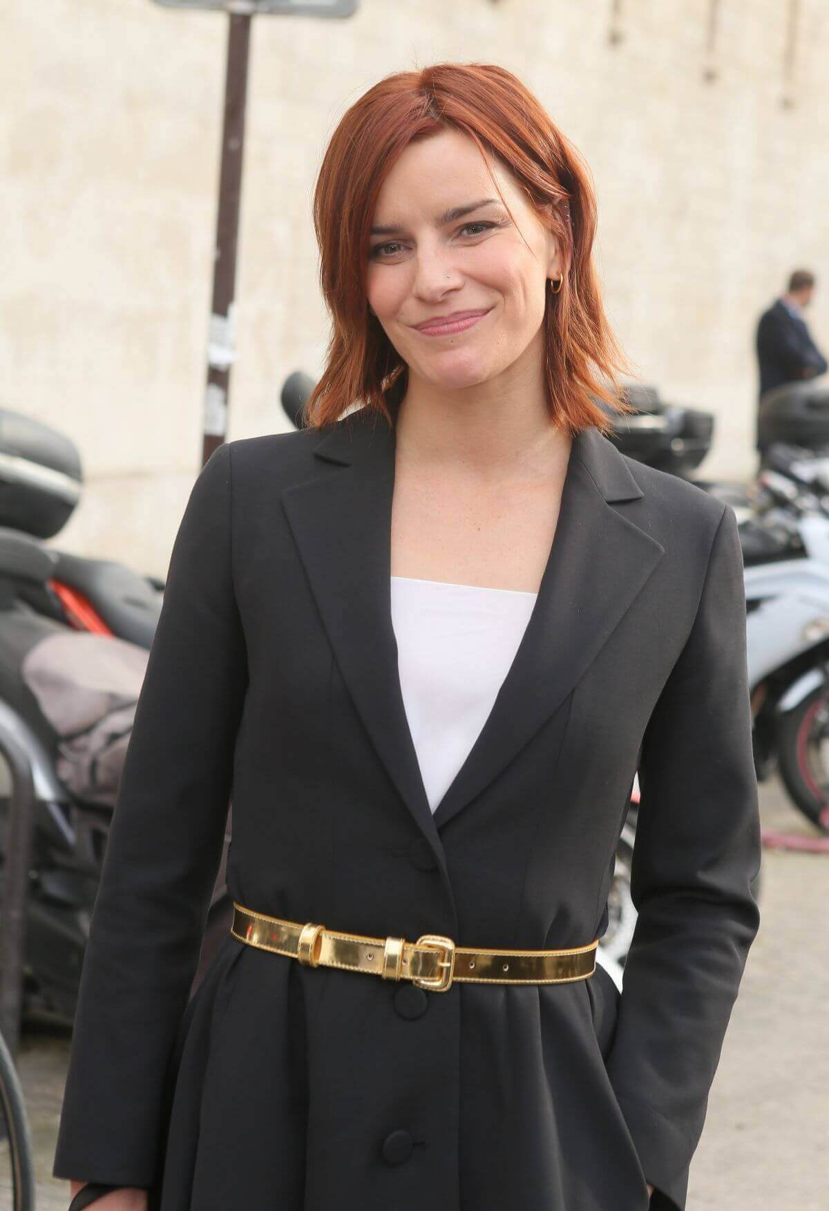 Fauve Hautot Stills Leaves Christian Dior Fashion Show in Paris