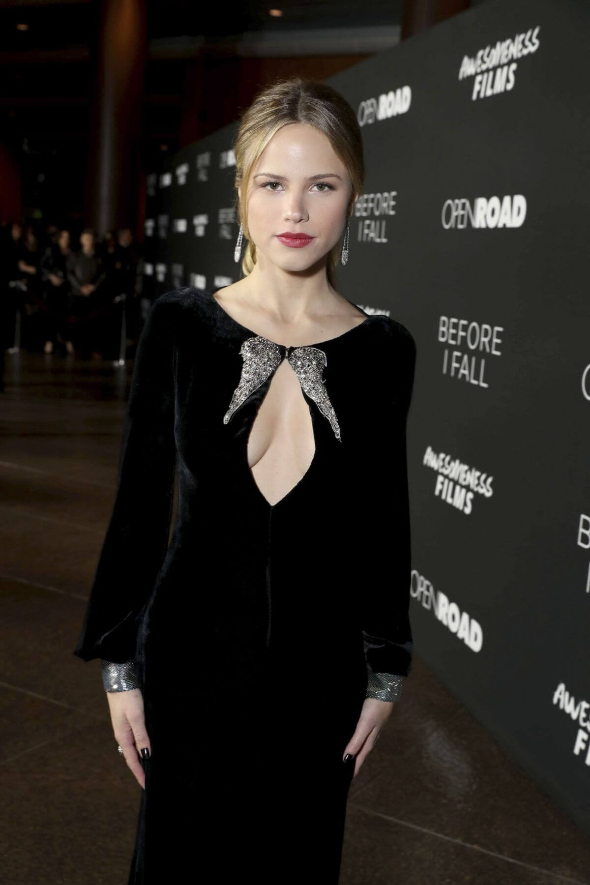 "Halston Sage Stills at ""Before I Fall"" Premiere in Los Angeles"
