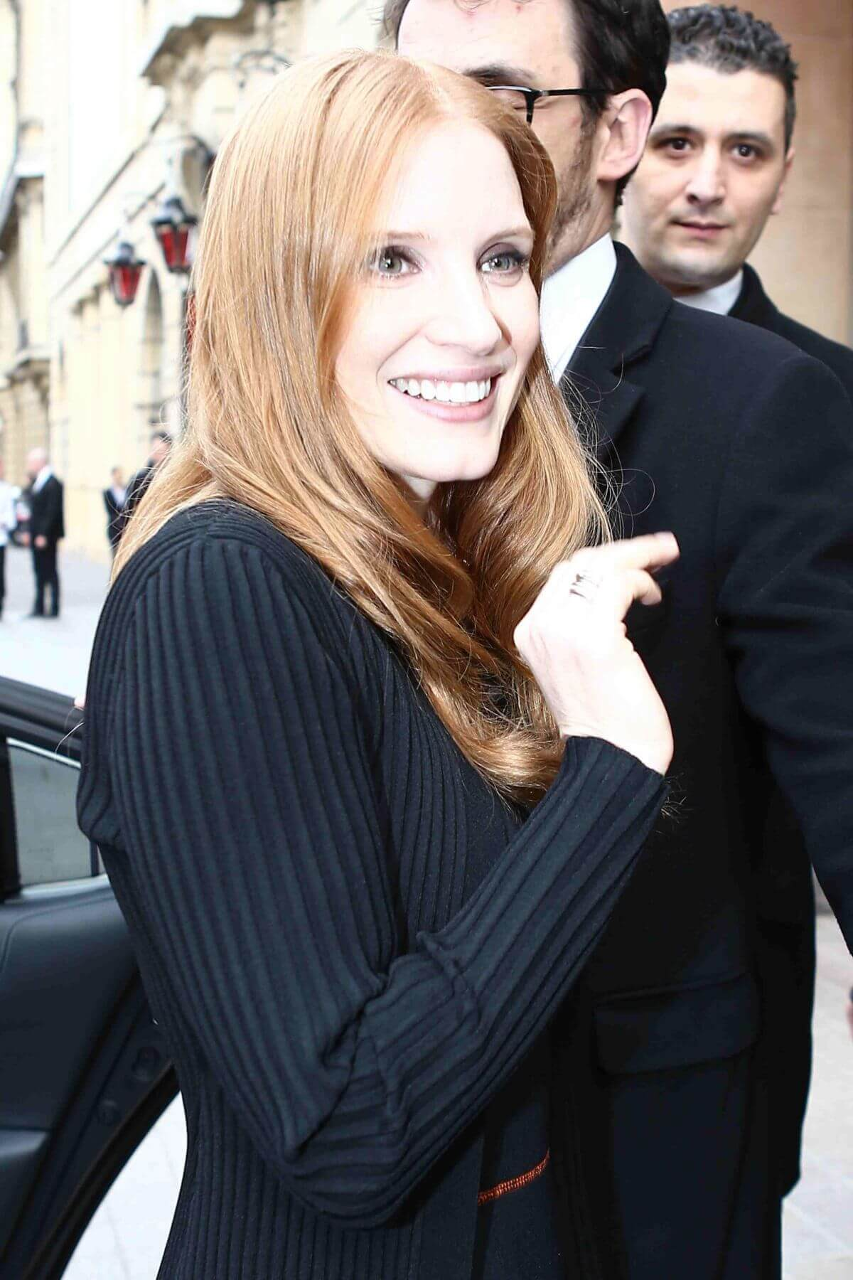 Jessica Chastain Stills Out and About in Paris