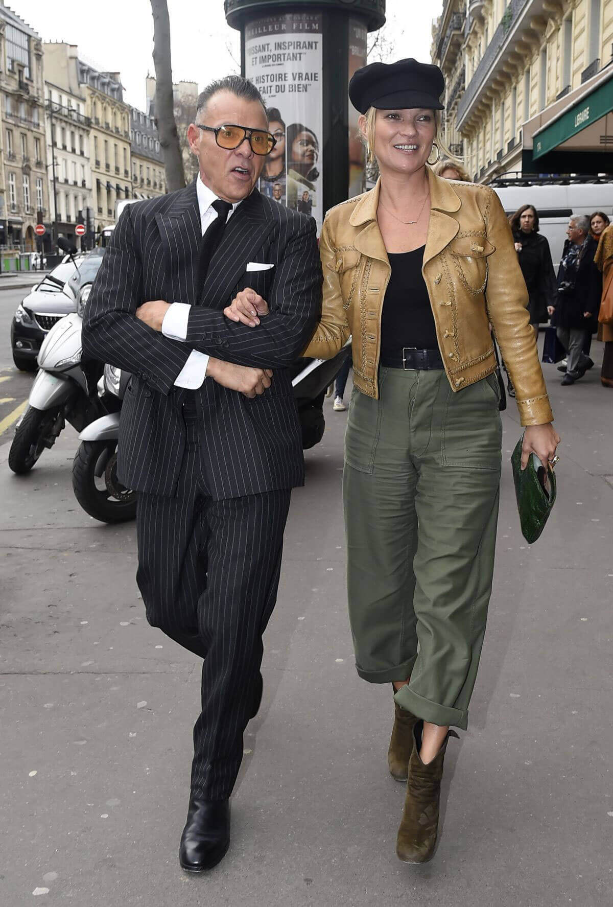 Kate Moss Stills Out and About at Paris Fashion Week 1