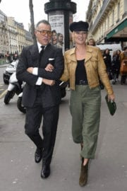 Kate Moss Stills Out and About at Paris Fashion Week 2