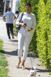 Nicole Mitchell Murphy Stills Walks Her Dog Out in West Hollywood 1