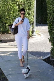 Nicole Mitchell Murphy Stills Walks Her Dog Out in West Hollywood 9