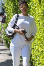 Nicole Mitchell Murphy Stills Walks Her Dog Out in West Hollywood 11