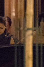 Selena Gomez and The Weeknd Stills Leaves Hotel La Reserve in Paris
