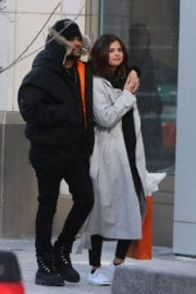 Selena Gomez and The Weeknd Stills Out at Bloor Street in Toronto