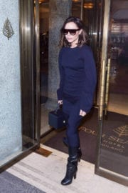 Victoria Beckham Stills Leaves Her Hotel in Milan