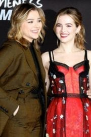 """Zoey Deutch Stills Premieres """"Before I Fall"""" With Halston Sage & Cast in Los Angeles"""