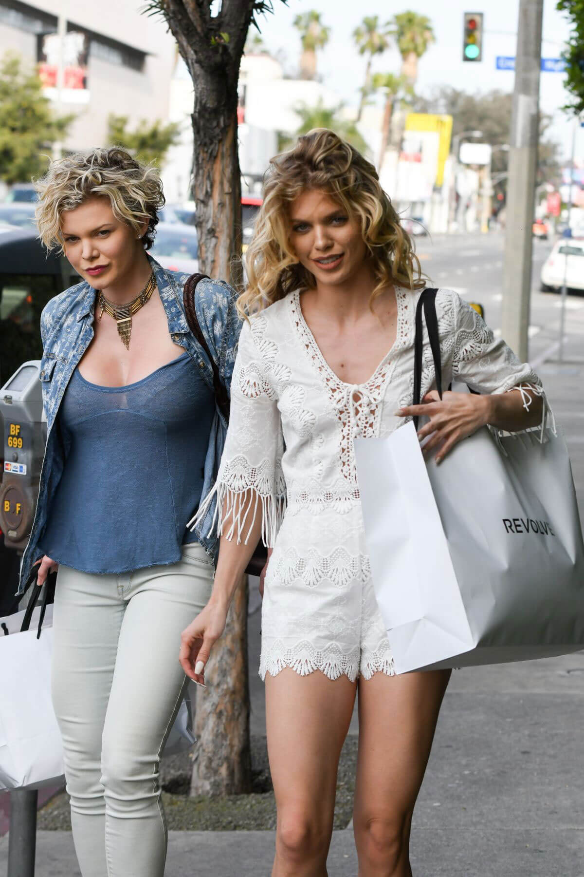 AnnaLynne McCord and Angel McCord Stills Leaves Revolve Social Club in Los Angeles