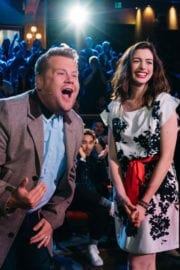 Anne Hathaway Stills at Late Late Show with James Corden in Los Angeles
