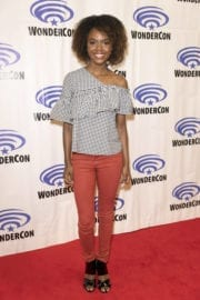 Ashleigh Murray Stills at Riverdale Press Room at WonderCon in Anaheim