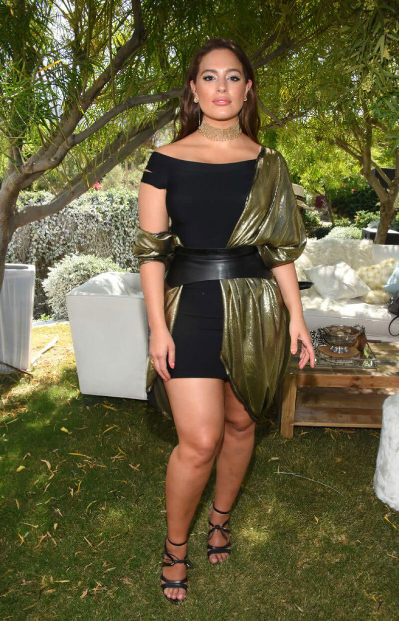 Ashley Graham Stills at Winter Bumberland Party at Coachella 2017 in Indio