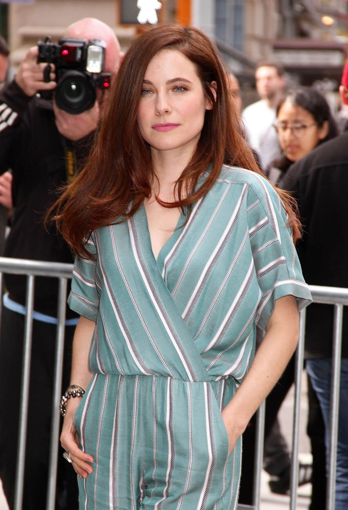 Caroline Dhavernas Stills Leaves AOL Studios in New York