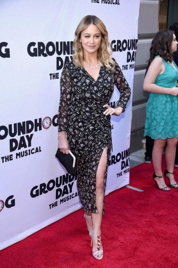 Christine Taylor Stills at Groundhog Day Broadway Opening Night in New York