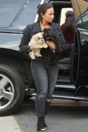 Demi Lovato Arrives at a Recording Studio in West Hollywood