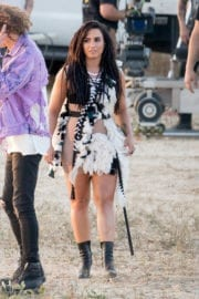 Demi Lovato Stills on the Set of No Promises Music Video in Los Angeles