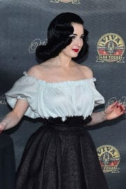 Dita Von Teese Stills at Viva Las Vegas Rockabilly Car Show