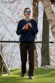 Elle Fanning Stills on the Set of I Think We're Alone Now in New York