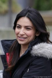 Floriana Lima on the Set of Supergirl in Vancouver