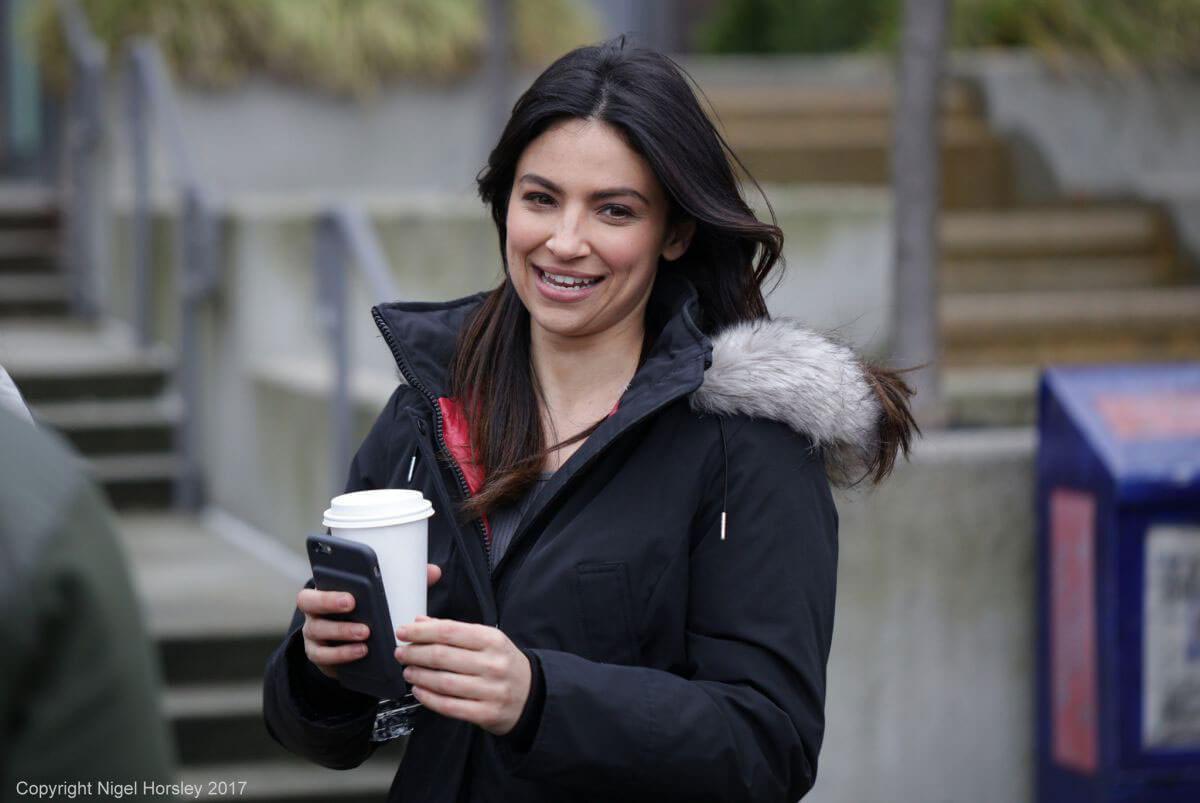 Floriana Lima on the Set of Supergirl in Vancouver Photos