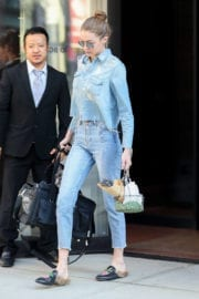Gigi Hadid Stills Leaves Her Apartment in New York