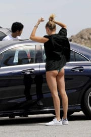 Hailey Rhode Baldwin Stills on the Set of a Photoshoot in Los Angeles