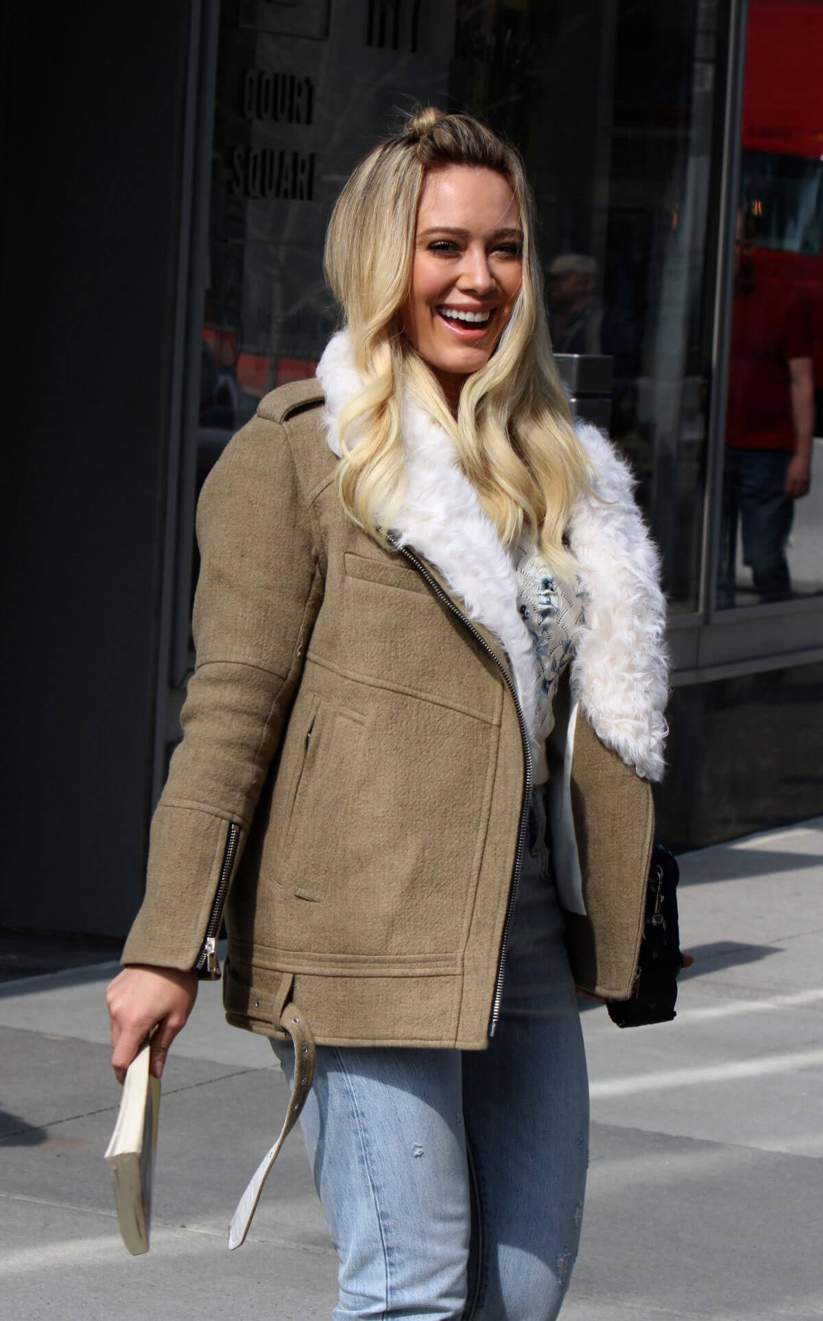 Hilary Duff Stills on the Set of Younger in New York