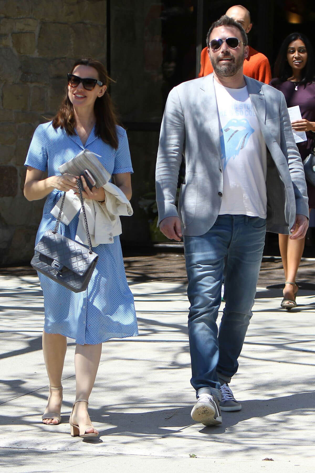 Jennifer Garner and Ben Affleck Leaves Church in Pacific Palisades