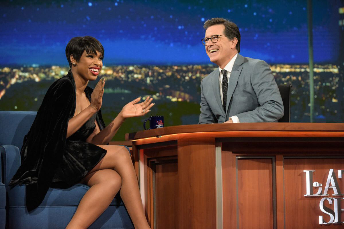 Jennifer Hudson Stills at Late Show with Stephen Colbert