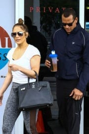 Jennifer Lopez and Alex Rodriguez Leaves a Gym in Miami