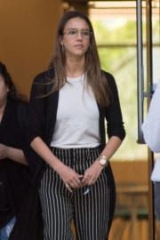Jessica Alba Stills Leaves an Office in Los Angeles
