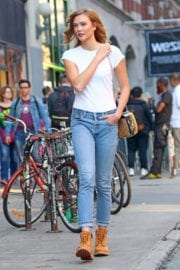 Karlie Kloss Stills in Jeans Out in New York
