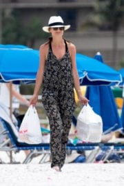 Katie Holmes Stills Out at a Beach in Miami