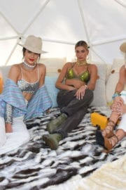 Kendall Jenner and Hailey Rhode Baldwin at Winter Bumberland Party at Coachella Festival 2017