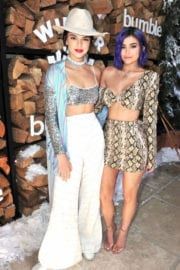 Kylie Jenner and Kendall Jenner Stills at Winter Bumberland Party in Indio