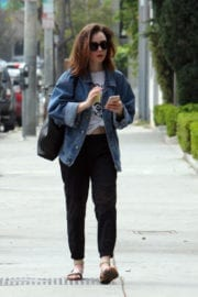 Lily Collins Shopping Out in Beverly Hills