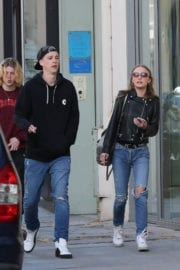 Lily-Rose Depp and her Boyfriend Ash Stymest Out in Paris