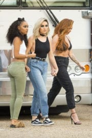 Little Mix Leaves Their Tour Bus in New Orleans