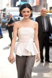 Lucy Hale Stills at Good Morning America in New York